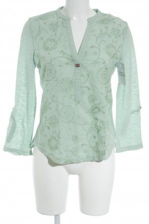 Napapijri V-Ausschnitt-Shirt blassgrün Street-Fashion-Look