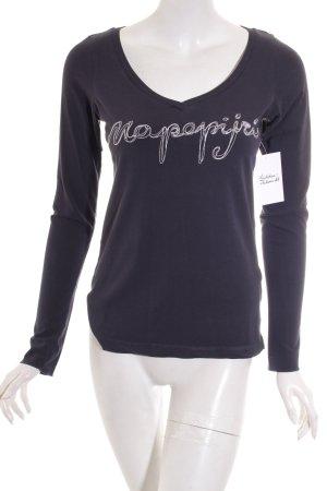 Napapijri V-Ausschnitt-Shirt dunkelblau-weiß Casual-Look