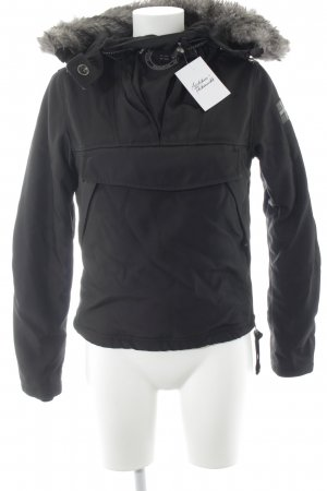 Napapijri Winterjacke schwarz-silberfarben sportlicher Stil