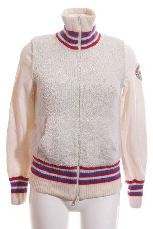Napapijri Wool Jacket striped pattern street-fashion look