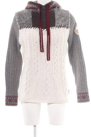 Napapijri Wool Jacket white-light grey cable stitch street-fashion look