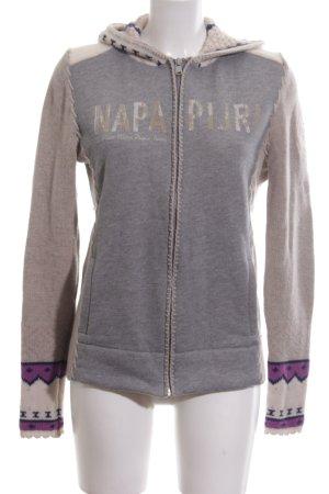 Napapijri Wool Jacket themed print athletic style