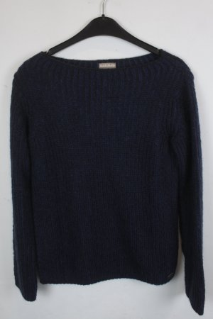 NAPAPIRJI Strickpullover Gr. XS schwarz blau (18/9/033)