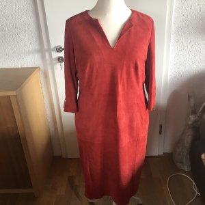Madeleine thompson Leren jurk lichtrood-rood