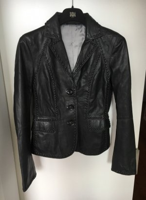 Riani Leather Blazer black leather