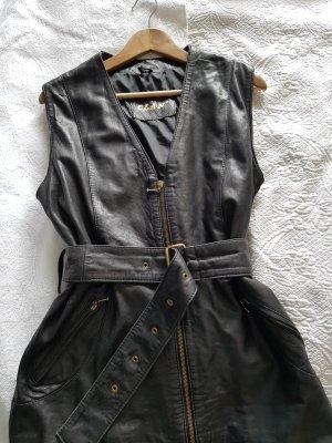 Clan Leren vest zwart