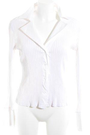 Naracamicie Langarm-Bluse weiß Streifenmuster Elegant