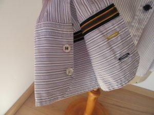 Camicetta a maniche lunghe bianco-azzurro Cotone