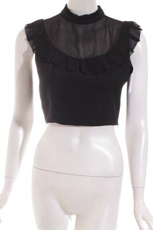 Nasty Gal ärmellose Bluse schwarz Street-Fashion-Look