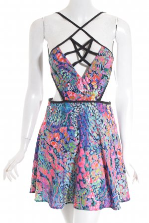 Nasty Gal Cut-Out-Kleid abstraktes Muster Beach-Look
