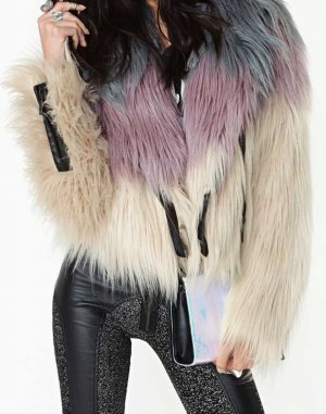 Nasty Gal Faux Fur Jacke