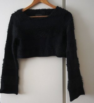 Nasty Gal Coarse Knitted Sweater black