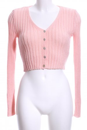Nasty Gal Knitted Bolero pink casual look