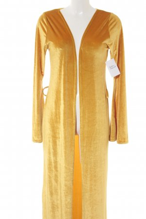 Nasty Gal bodenlanger Mantel dunkelgelb minimalistischer Stil