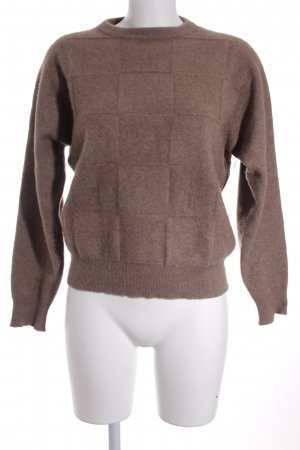 Natural Alfa Short Sleeve Sweater beige fluffy