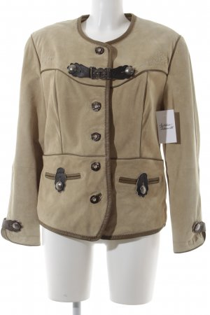 Natural Life Traditional Jacket light brown-beige floral pattern classic style