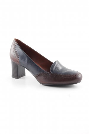 Naturalizer High-Front Pumps brown-dark blue classic style