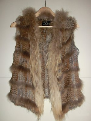 CKN of Scandinavia Fur vest multicolored pelt