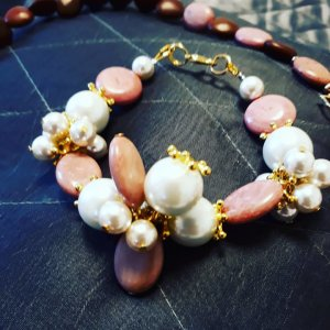 Collier Necklace white-rose-gold-coloured