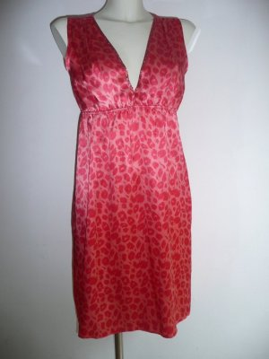 Naughty dog Eyecatcher Kleid Dress Seide Animal Print orange + rot