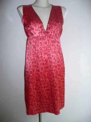 Naughty dog Eyecatcher Kleid Dress Seide Leoparden Print Strassbesatz orange