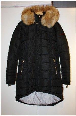 Papaya Manteau matelassé noir tissu mixte