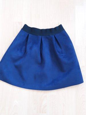 yfl RESERVED Falda acampanada azul acero