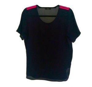Navy Blue Silk Paul Smith Top