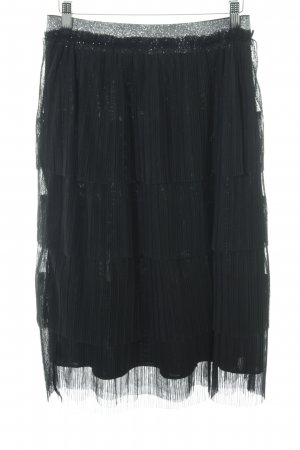 Navy London Broomstick Skirt black-silver-colored street-fashion look