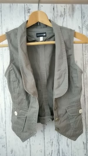 Denim Vest green grey-khaki