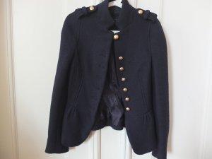 Navyblauer Military Blazer von ZARA