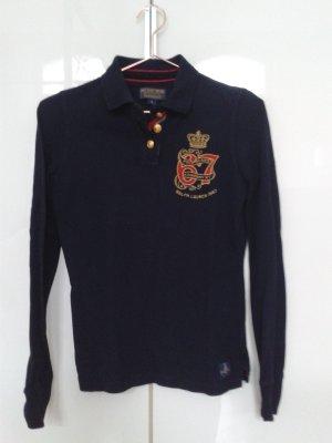Navyblaues Langarm-Polo