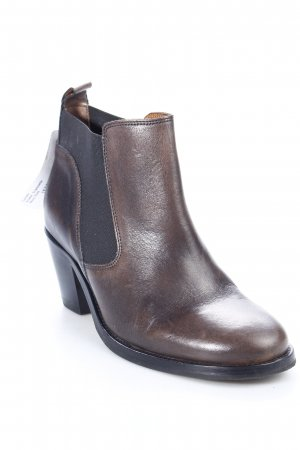 Navyboot Ankle Boots schwarz-dunkelbraun Country-Look