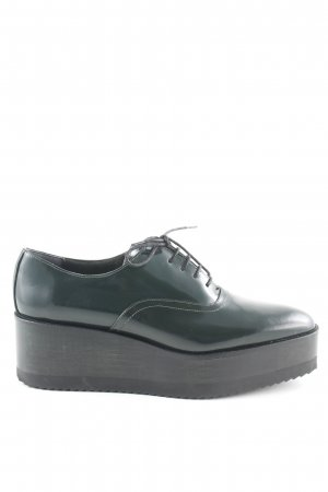 Navyboot Wingtip Shoes dark green business style