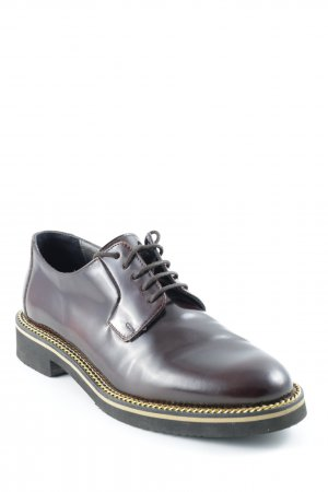 Navyboot Derby dark brown-gold-colored business style