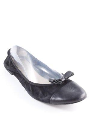 Navyboot faltbare Ballerinas schwarz Elegant