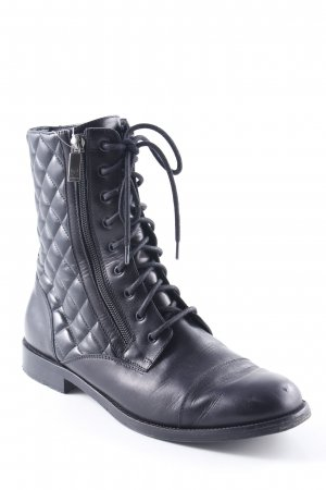 Navyboot Halbstiefel schwarz Steppmuster Street-Fashion-Look