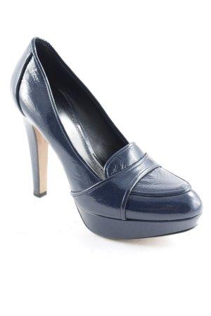Navyboot High Heels dunkelblau Elegant