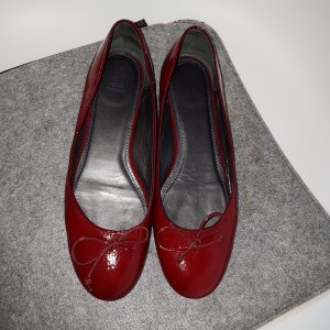 Navyboot Patent Leather Ballerinas brick red-carmine leather