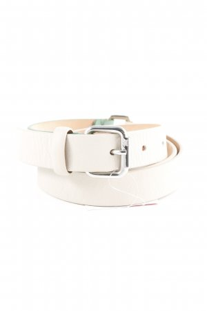 Navyboot Leather Belt cream-mint casual look