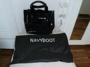 Navyboot Beugeltas zwart Leer