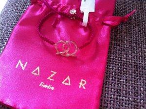 Bracelet magenta-rose-gold-coloured