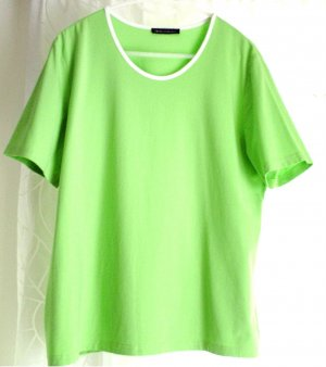 NC Damen Shirt T-Shirt grün hellgrün uni Rundhals GR. 46
