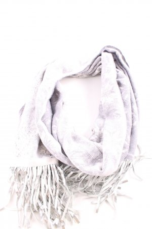 NC nice connections Fringed Scarf lilac-white abstract pattern casual look
