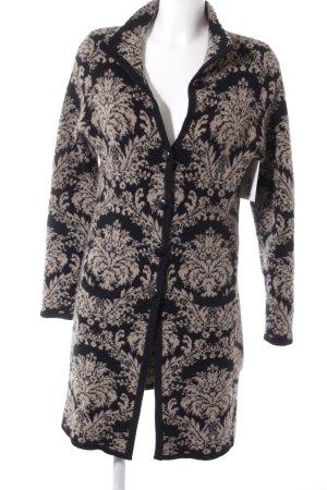 NC nice connections Cappotto a maglia nero-beige motivo floreale stile casual