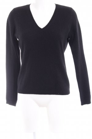 NC nice connections V-Ausschnitt-Pullover schwarz Casual-Look