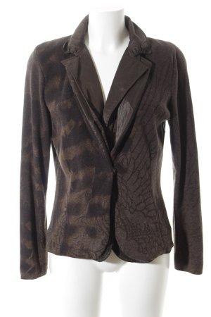 NC nice connections Blazer en laine brun foncé-marron clair motif floral