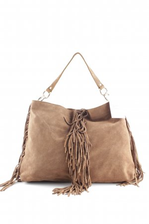 Neat to. Bolso de flecos marrón claro look casual