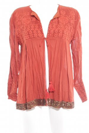 Neat to. Langarm-Bluse rostrot Gypsy-Look
