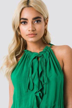 Neck Drawstring Midi Dress Trendyol